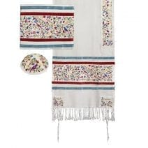 Yair Emanuel Tallit Set The Matriarchs in Multicolor Full Embroidery