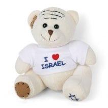 White Teddy Bear I love Israel T- Shirt