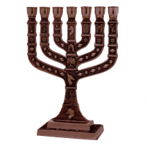 7 Branch 12 Tribes Menorah Cooper - Jerusalem