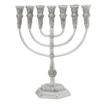 7-Branch-Menorah-Temple-Replica-11-Silver-Jerusalem-Israel-Gift-152753473373