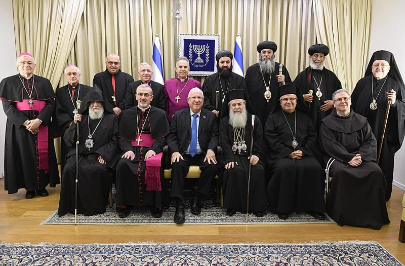 Reuven Rivlin - President of Israel host the leaders of the Christian Community in Israel